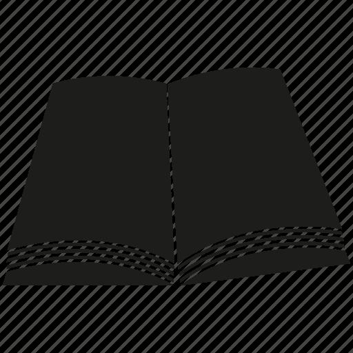 book, document, file, open book, paper icon