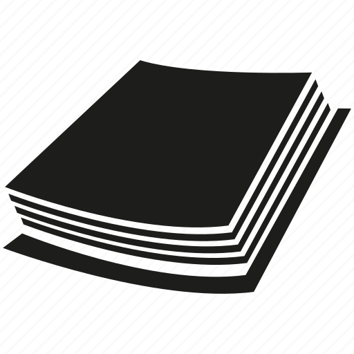 book, document, file, paper, stack of paper icon