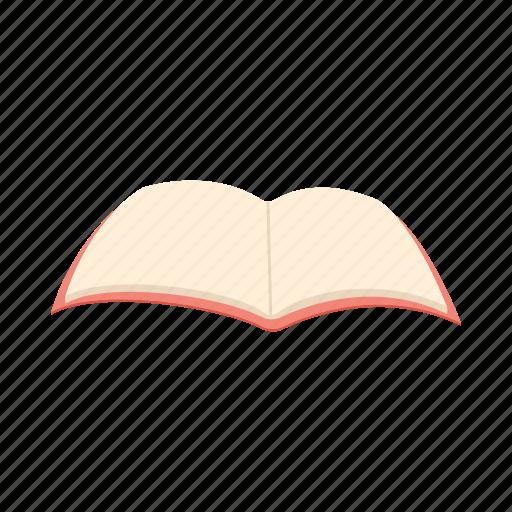 book, cartoon, empty, open, page, paper, white icon