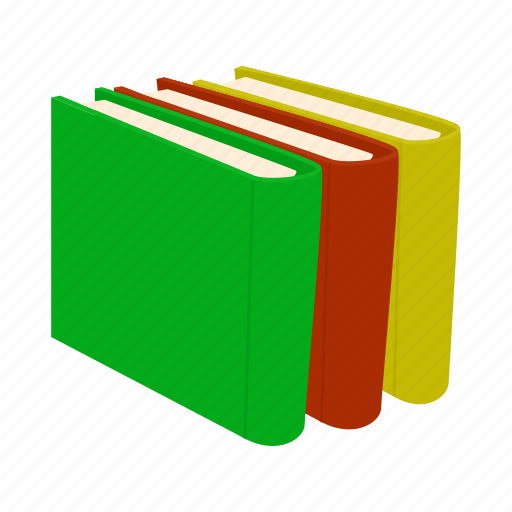 book, cartoon, cover, information, literature, paper, pile icon