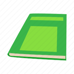 book, cartoon, close, green, page, paper, space icon