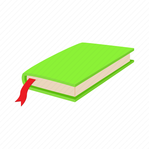 book, bookmark, cartoon, close, green, page, paper icon