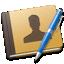 address, blue, book icon