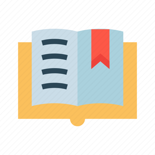 Book, bookmark, education, open, reading icon - Download on Iconfinder