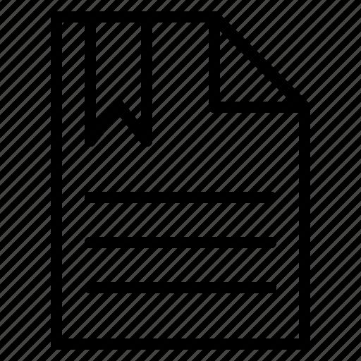 bookmark, document, favorite, text icon