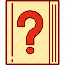 book, books, document, documents, faqs, library, questions icon
