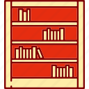 book, books, document, documents, library, rack icon