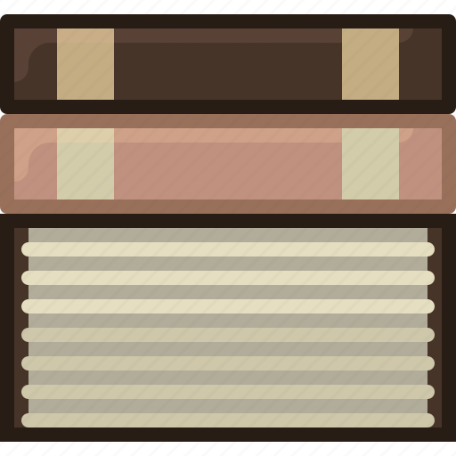 book, bookcase, books, learning, library, reading, yumminky icon