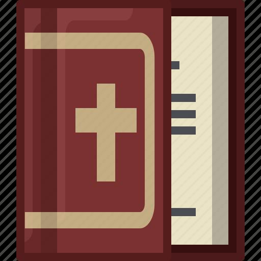 bible, book, church, faith, holy, religion, yumminky icon