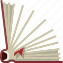 book, bookcase, bookmark, learning, library, reading, yumminky icon