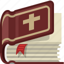 bible, book, church, faith, holy, religion, yumminky icon