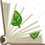 book, bookcase, herbarium, leaves, library, natural, yumminky icon