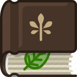 book, bookcase, herbarium, leaf, library, natural, yumminky icon