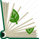 book, bookcase, herbarium, leaves, library, natural