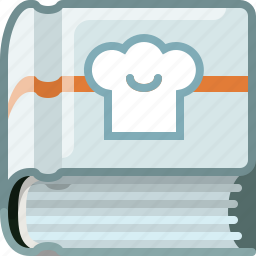 book, bookcase, cookery, cooking, kitchen, library, yumminky icon