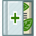 book, bookcase, health, library, medicine, natural, yumminky icon