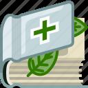 book, bookcase, health, library, medicine, natural, yumminky icon