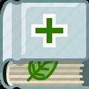 book, bookcase, health, library, medicine, natural icon