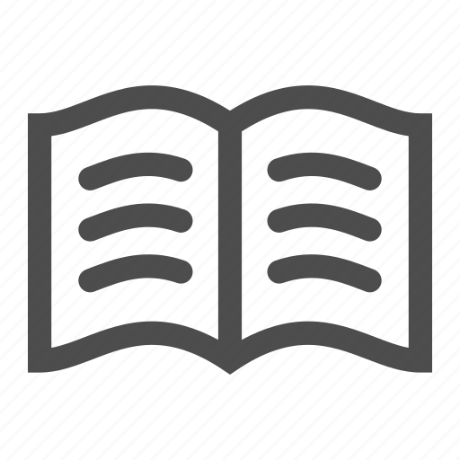 book, reading, sheet, text, words icon