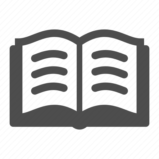 book, knowledge, learning, reading, sheets, words icon
