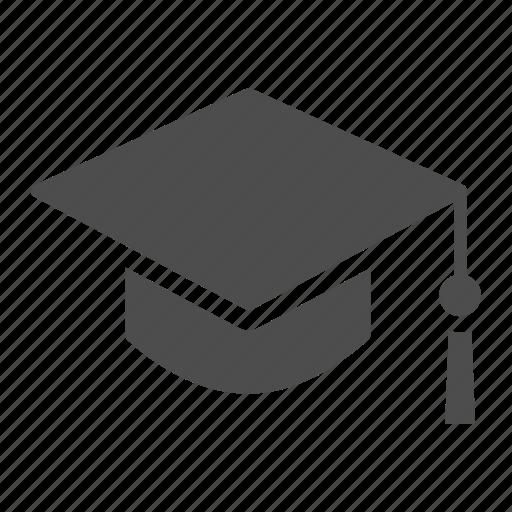 graduate, graduation, hat, learn, student icon