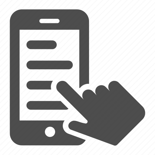 finger, hand, mobile, phone, read, smartphone, touch icon