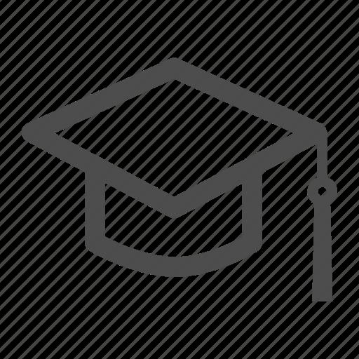 graduate, graduation, hat, knowledge, learn, student, university icon