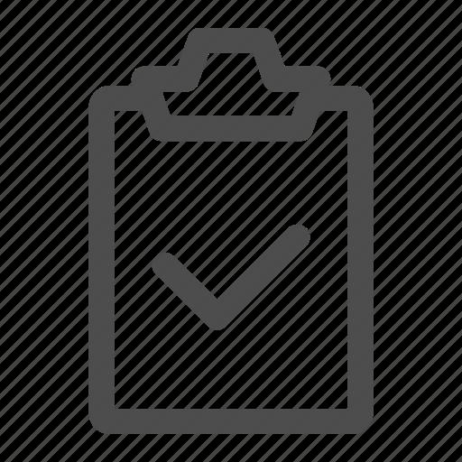 checklist, clipboard, list, ok, task, todo, validated icon
