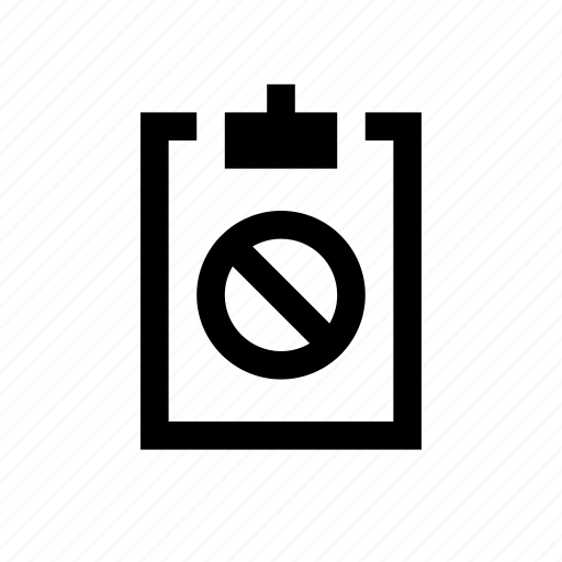 blocked, clipboard icon