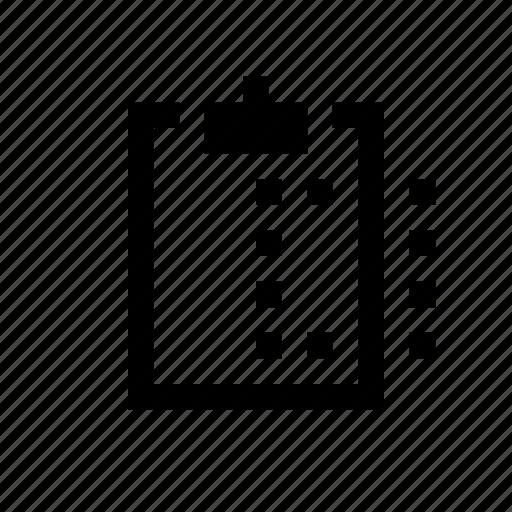 clipboard, content icon