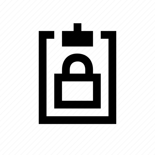 clipboard, locked icon