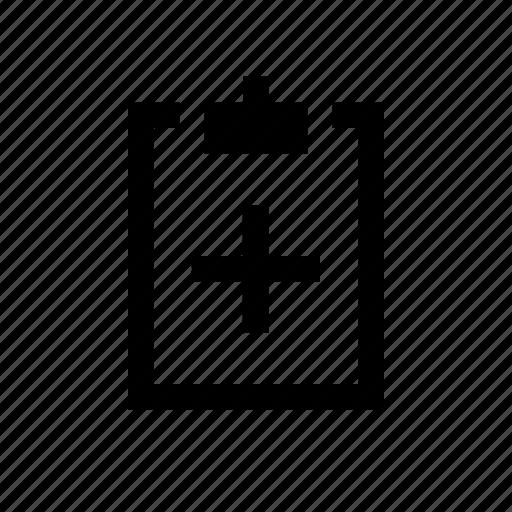 clipboard, plus icon