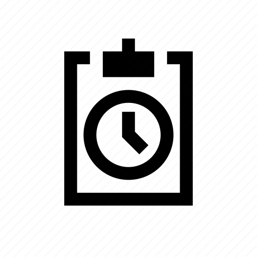 clipboard, time icon