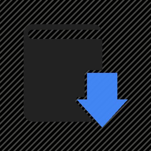 arrow, book, bookmark, school, study icon