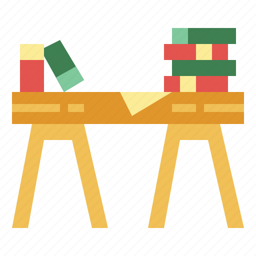 desk, furniture, material, office, table icon