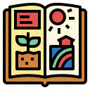 agriculture, book, farming, gardening, nature icon