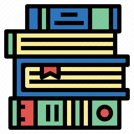 books, education, heap, library, study icon