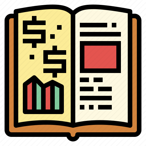 book, education, finance, strategy icon
