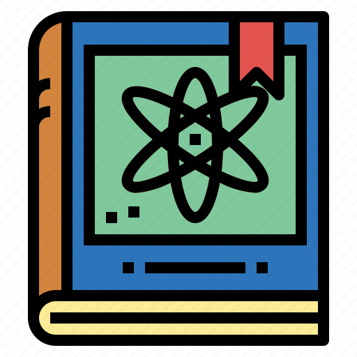 book, chemistry, education, physics, science icon