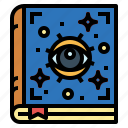 book, magic, myth, spellbook icon