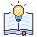 book, creative, idea, knowledge, open, page, paper icon