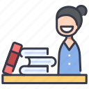 store, reservation, book, business, booking, library icon