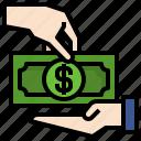 borrow, business, dollars, finance, gestures, hands, loan