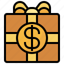 banking, box, business, currency, finance, gift, gifting icon