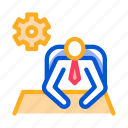 business, businessman, concept, employee, gear