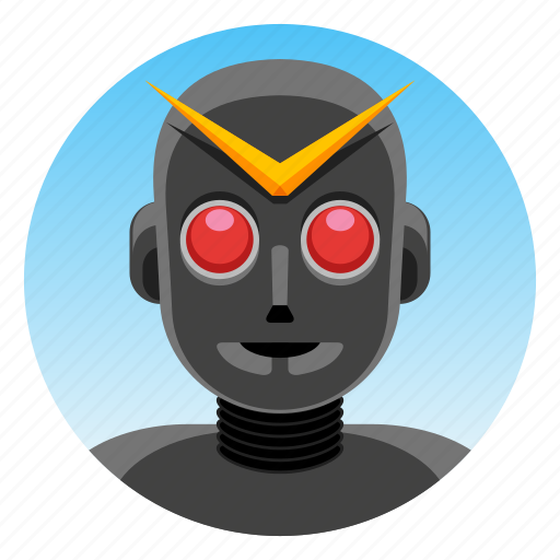 android, anime, app icon, bot, japanese hero, robot, warrior icon