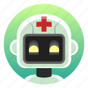 android, app icon, bot, doctor, health, medical, robot