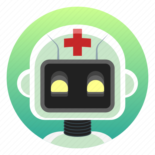 android, app icon, bot, doctor, health, medical, robot icon