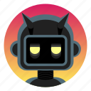 android, app icon, bot, evil, leather, robot, sadistic icon