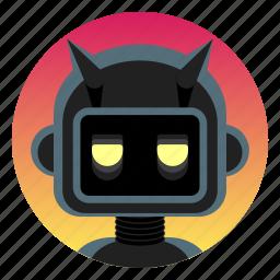 android, app icon, bot, evil, leather, robot, sadistic icon